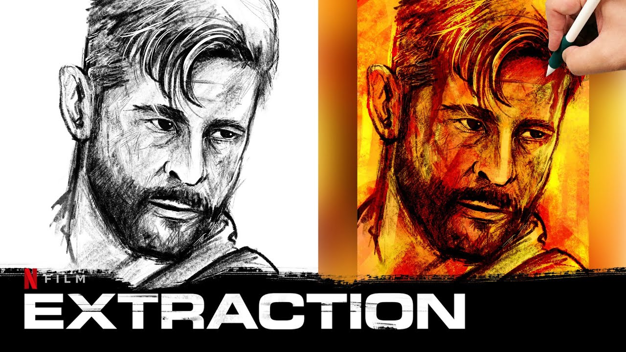 Painting Chris Hemsworth Extraction 2020 Netflix Film Youtube