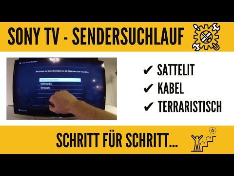 Sony Smart TV Sendersuchlauf Kabel Sat Dvb-t. GANZ EINFACH!!!