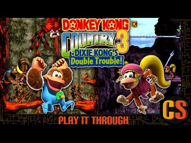 DONKEY KONG COUNTRY 3: DIXIE KONG'S DOUBLE TROUBLE - PLAY IT THROUGH (TRUE ENDING)