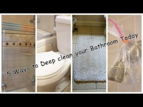 How To Deep Clean The Bathroom | Deep Cleaning The Bathroom