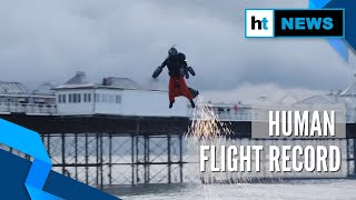 Real-life 'Iron Man' sets human flight speed record in his jet-powered suit