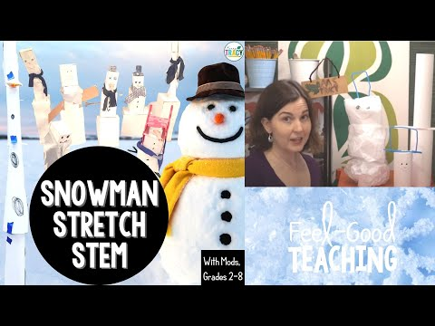Christmas Stem Challenges.Winter Christmas Stem Challenge Snowman Stretch 4 Of 5