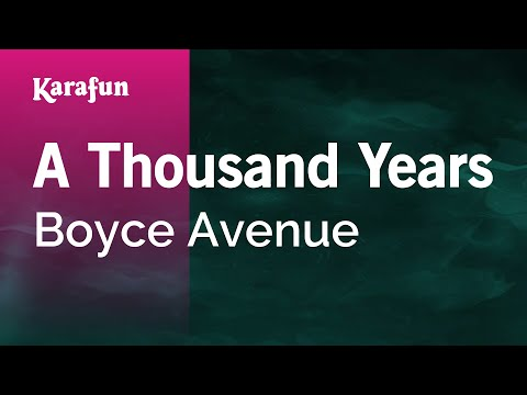 Karaoke A Thousand Years - Boyce Avenue *