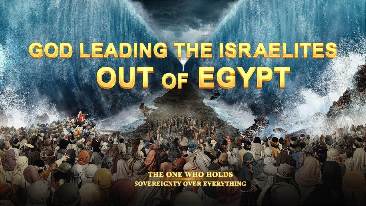 God Leading the Israelites Out of Egypt