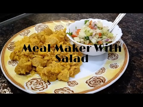Simple and Easy South Indian Style Meal-Maker With Salad🍛(in Tamil)