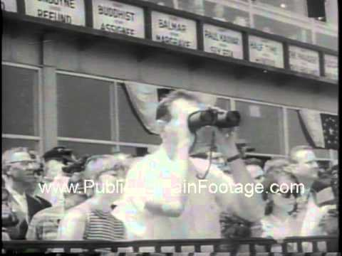 Preakness Stakes Pimlico 1967 Baltimore Damascus wins  www.PublicDomainFootage.com