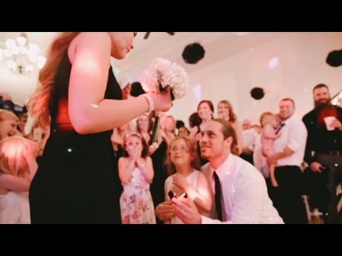 Newlyweds Plan Surprise Proposal For Guest At Their Own Wedding