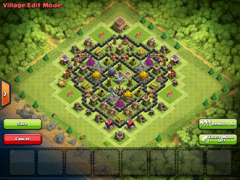 Clash Of Clans | Defensive Replays | Mantis Town Hall Level 8 Farming Base