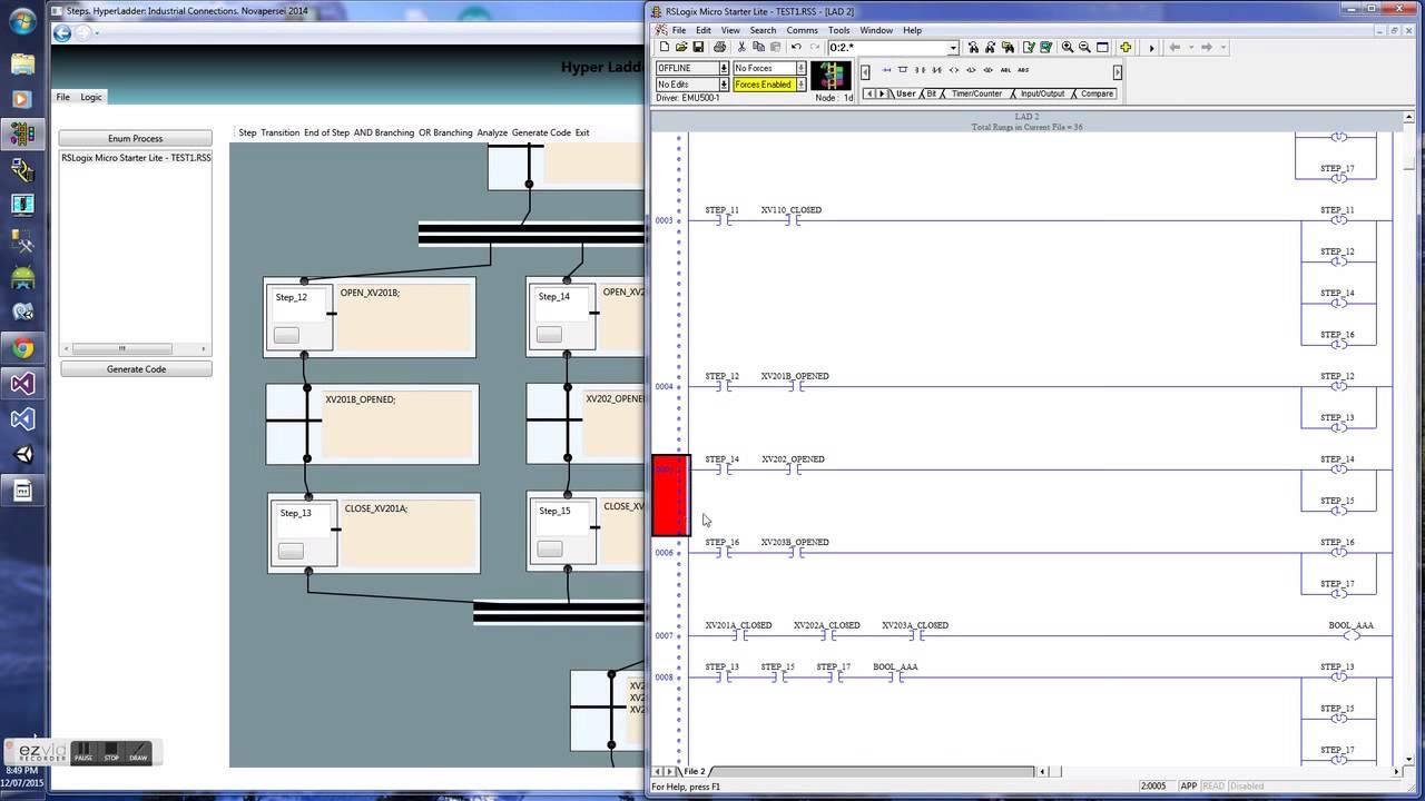 Hyperladder: Ladder Logic Code Generator for Allen-Bradley PLC