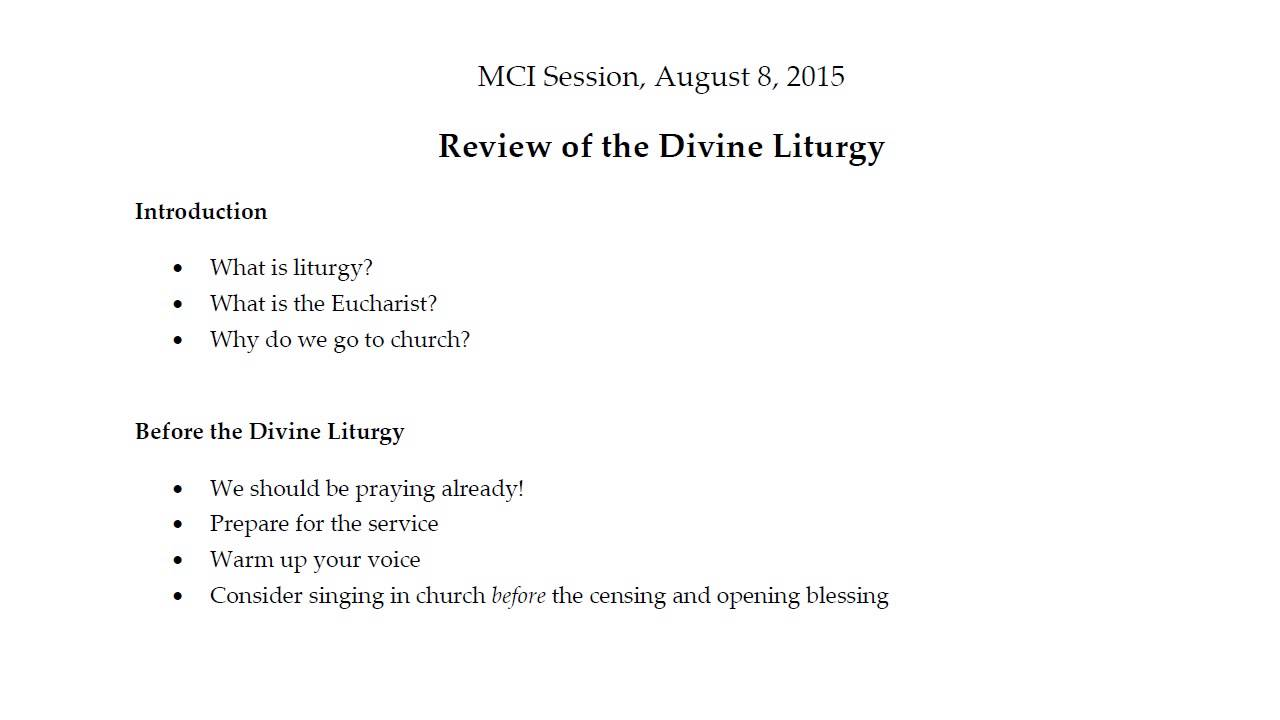 What is the Liturgy
