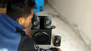 Logitech Z906 THX UNBOX & SOUND TEST DOLBY DTS FLAC SONGS PLAYPACK 5.1 AUDIO