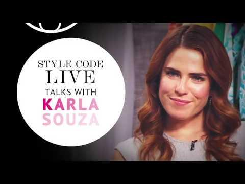 Amazon Style Code Live Talks With // Actress Karla Souza