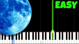 Clair de Lune  - Debussy [Easy Piano Tutorial] (Synthesia/Sheet Music)