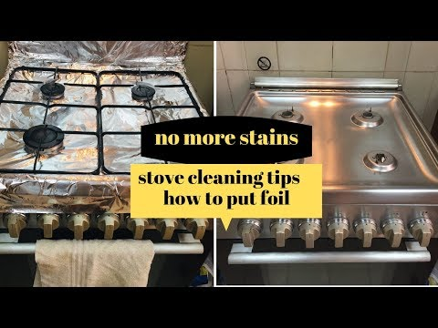how to put foil on stove|kitchen cleaning|#pakistani mom|mavvlogs