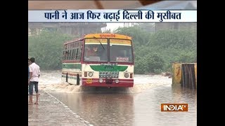 Rain continues in Delhi-NCR, triggers waterlogging and traffic jam in several areas