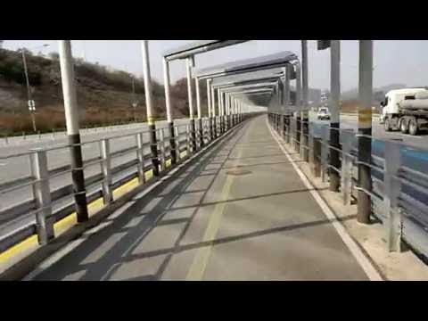 Under the solar panels - Daejeon to Sejong Bike Trail