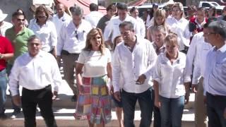 Gobernadora inaugura entrada principal de Sahuaripa