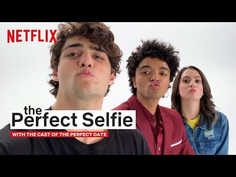 Noah Centineo, Laura Marano & Odiseas Georgiadis' Selfie Game Is Strong | The Perfect Date | Netflix