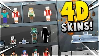 How to get 4D SKINS in MCPE!!! - Minecraft PE (Pocket Edition)