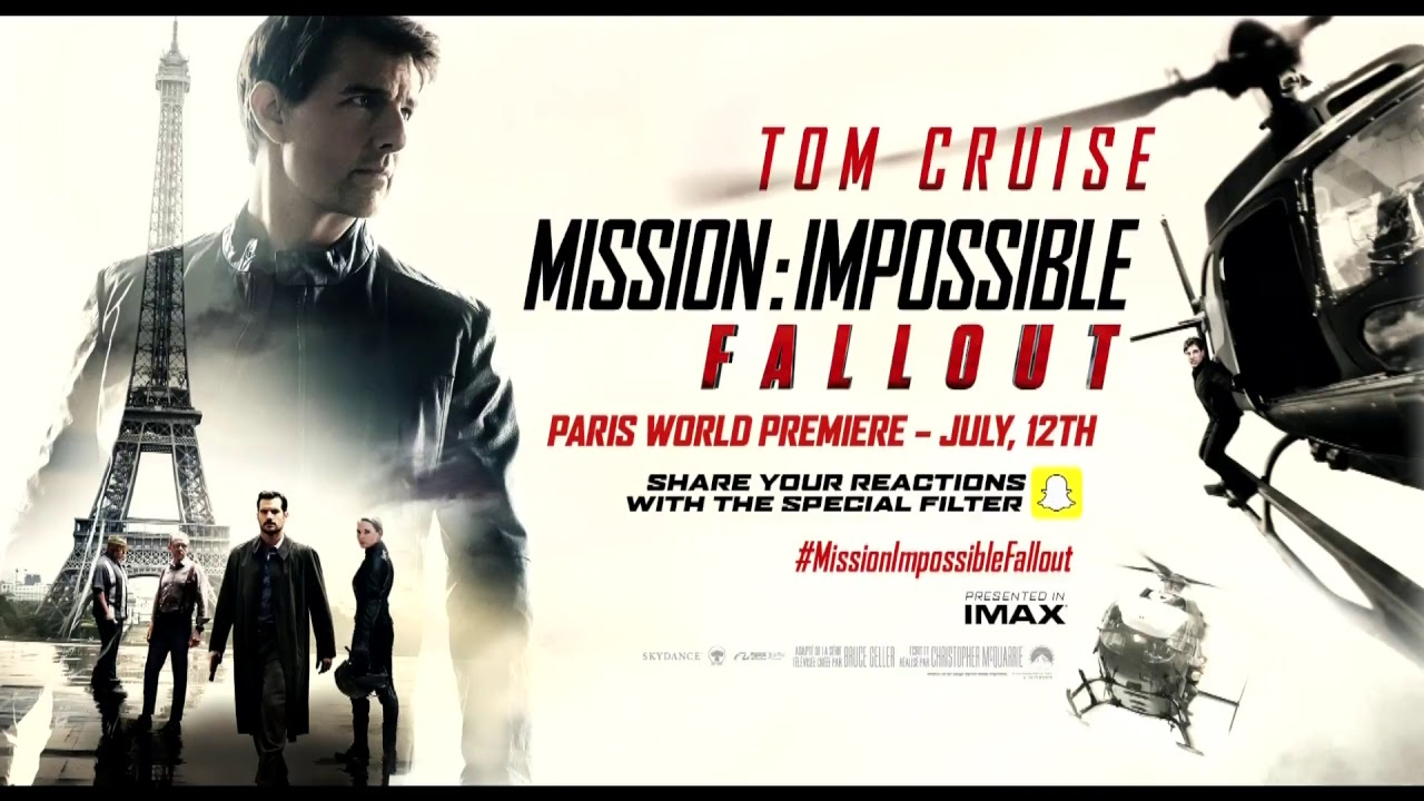 MISSION: IMPOSSIBLE - FALLOUT | WELTPRMIERE PARIS | LIVESTREAM - YouTube