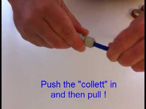 How to Remove Your Water Filter Tube from a Speed-Fit / Push Fit Connection Fitting