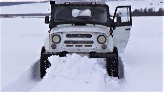 УАЗ первый. Что общего у Нивы и Jeep Cherokee на покатушке в Сырейке.