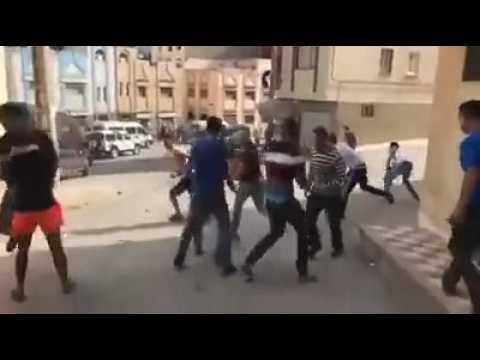 مواجهة بين رجال الأمن وأنصار الزفزافى بالريف.المغرب