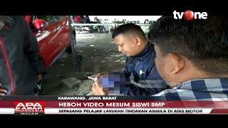 Heboh! Sepasang Pelajar SMP di Karawang Lakukan Adegan Mesum di Atas Motor Viral