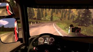 Euro Truck Simulator 2 (Patch 1.3.1)  Gameplay [Sapphire HD7950 Vapor-X]