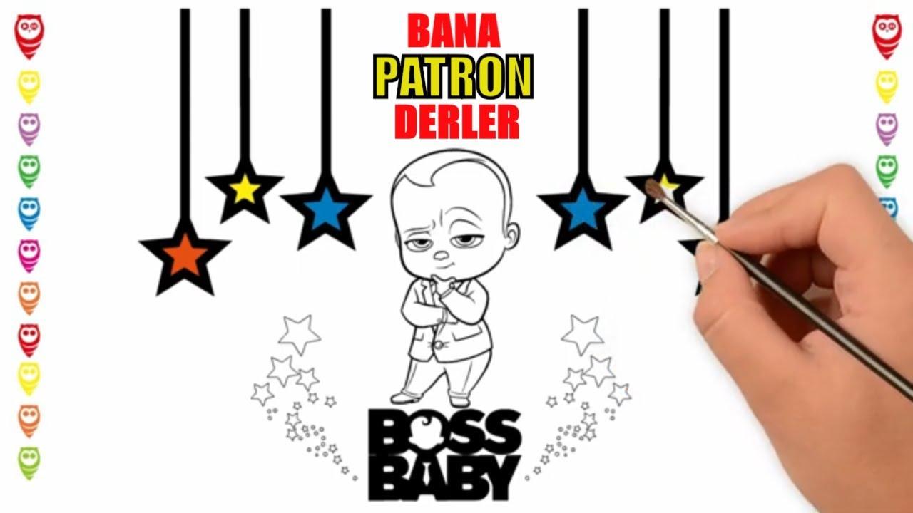 Boss Baby Cool Patron Bebek Karizmalı Boyama Sayfası Youtube