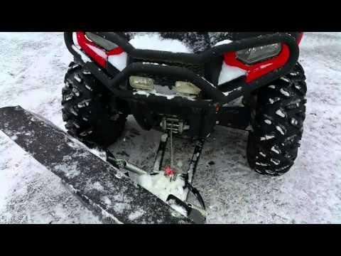 atv snow plow hook up