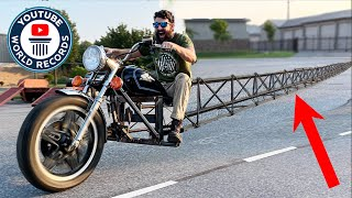 I Built The World's Longest Motorcycle! (over 100' long)