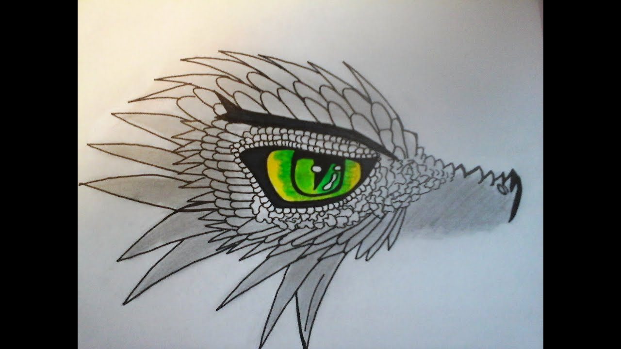 Dessiner un oeil de dragon youtube - Dessiner dragon ...