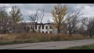 Сгоревший штаб 444 ПТАБ в Воздвиженке.