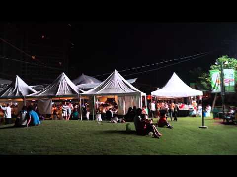 OUTDOOR FOOD FAIR, near our condo,  MANILA, Philippines,  JULY 12TH 2014