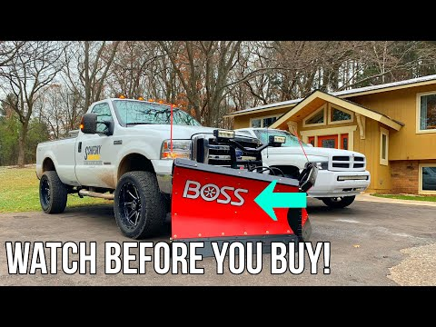 Brand New BOSS DXT V-Plow Doesn't Work?!? Watch Before You Buy!