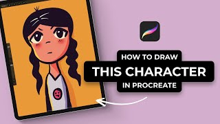 How To Draw This Cute Character In Procreate (#Shorts)