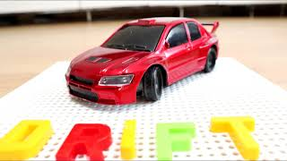 Low Cost Mitsubishi EVO 7 'HOBBY GRADE' Beginner RC Drift Car Review - Unboxing, Details & Drifting