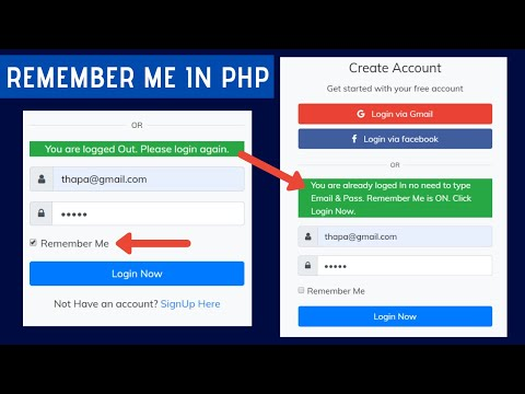 Adding Remember Me Functionality In Login Page Using PHP & MySQLi In Hindi