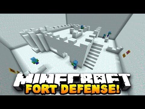 Snow Fort Defense Minecraft Custom Map №1:Предизвиквам General Borko