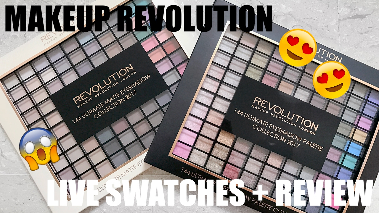 Swatchfest 2017 Makeup Revolution 144 Ultimate Eyesahdow Palette Review