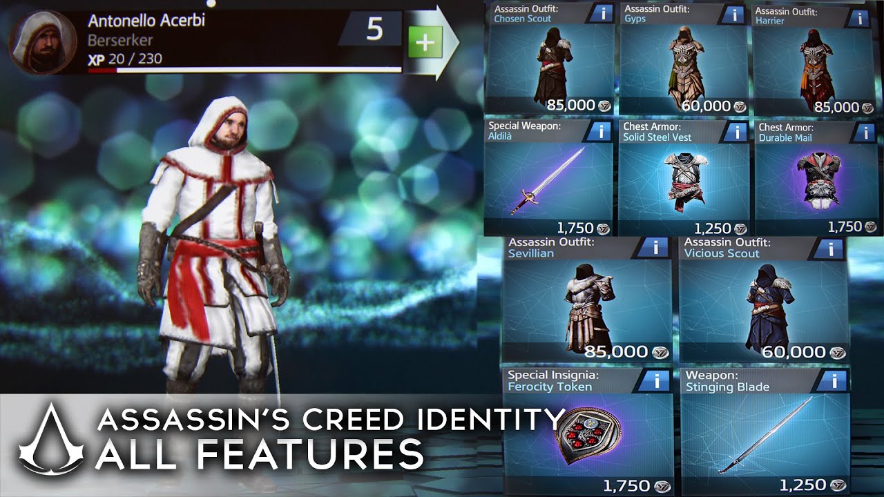 Assassin's Creed Identity - All Outfits/Items/Features so ...