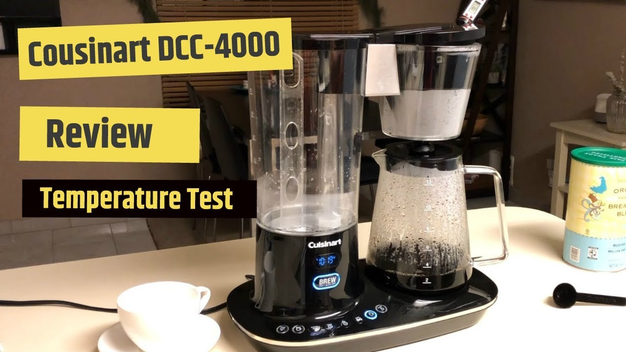 Cuisinart Dcc 4000 12 Cup Programmable Coffeemaker Review Temperature Test Youtube