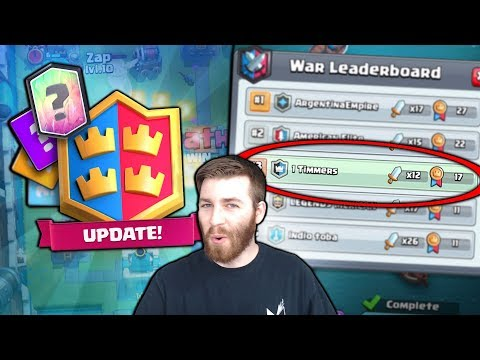ANOTHER NEW UPDATE RELEASED! OPTIONAL BUT GET IT! | Clash Royale | WAR DAY STRUGGLES