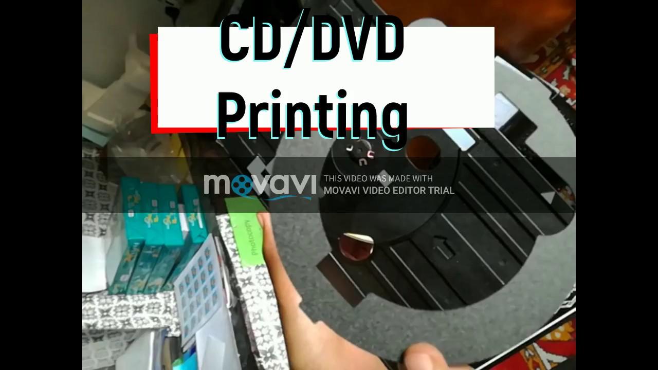 How To Print A Cd Dvd On Epson L805 Tutorial Doovi