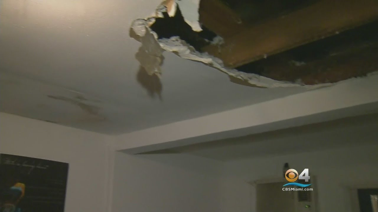 Wet Weather Ceiling Collapse Ruins Dania Beach Couple s Weekend
