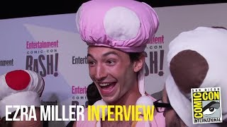 Ezra Miller Cosplays As Toadette & Gives WEIRD Interview at 2018 EW Comic Con Party