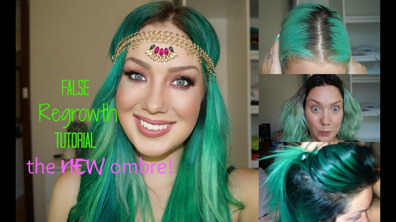 Black To Green Ombre Melt Hair Colour Tutorial Jade Madden Youtube
