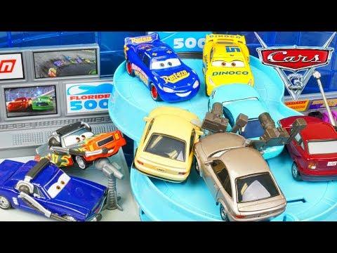 Disney Cars 3 Florida 500 Speedway Mega Garage holds all Race Fans Lets go Racing