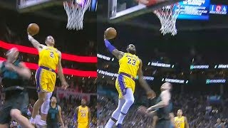Lonzo Ball Turns Into LeBron James With Aggressive Dunk! Lakers vs Hornets